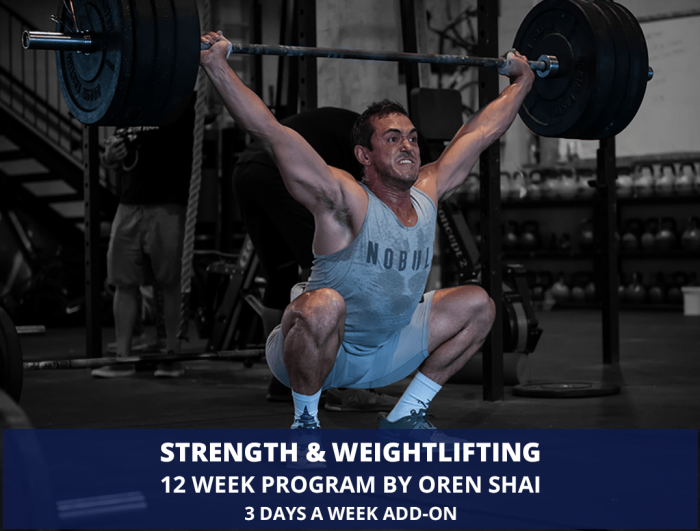 Strength & Weightlifting program by Oren Shai